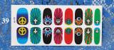 QJ33-44 16Tips  Nail Art Wrap Full Cover Sticker