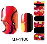 QJ1095-1108  14Tips/Pc  Nail Art stickers Flower Fairy