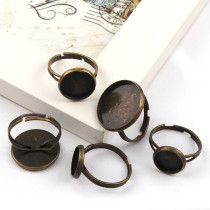 10 pieces Round Ring Flat Pad bezel Embellishments Cabochon Bases