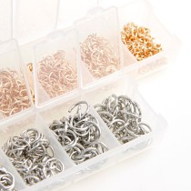 1400pcs Mix Size 4/5/6/7/8/9/10mm Open Jump Rings