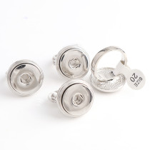 New 1 Piece  Fashion 20mm Round Metal Snap Buttons Adjustable Size Elastic Carve Vintage Round Snaps Buttons Ring DIY Jewelry Charms