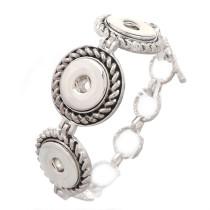 New 1 Piece Interchangable Fit 18mm 3 Snap Buttons OT Clasp Vintage Snaps Button Bracelets&Bangles DIY Jewelry Charm Bracelets