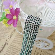 wholesale SS6,SS12 Dark Green Emerald Silver Base Close Rhinestone Chain For DIY Wedding Dress Beauty Accessories Nail Art