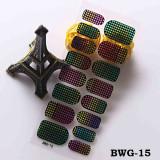 BWG13-24 16Tips/Pc  Three-dimensional 3D Diamond Nail Stickers