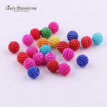 100pcs 12mm  ABS Candy Color Imitation Round Pearl Beads
