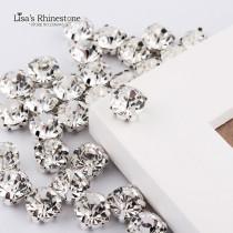 SS12-SS45 Crystal loose claw Rhinestone Silver Plated crystal rhinestone sew on bag/garment/bag DIY