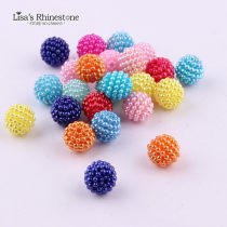 100pcs 10mm  ABS Candy Color Imitation Round Pearl Beads