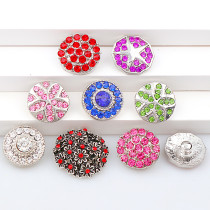 2017 New Fashion 6pcs High Quality Crystal Mixed Star&Flower Glass Metal Snaps buttons DIY Snap Charms Jewelry Bracelet&Bangle