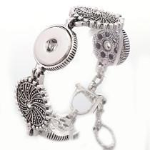 New 1 Piece Sun Shape Metal Interchangable Fit 18mm Snap Buttons OT Clasp Rhinestone Vintage Bracelets DIY Jewelry Charm Bracelets&Bangles