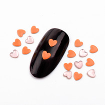 About 400pcs/pack 4x4mm  Copper Peach Heart Hot Fix Fluorescent Color Punk Style Rivet