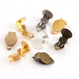 20pcs/1000pcs    10mm Metal Frog Clips Back Base Setting Ear Pad