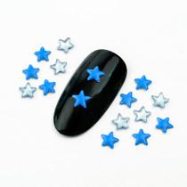 About  300pcs/pack 4x4mm  Five-pointed Star Hot Fix Fluorescent Color Punk Style Rivet