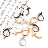 20pcs/1000pcs  10x15mm  Metal Earrings Clip Earnuts Ear Pad Plugging Back Stopper