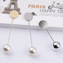 10Pieces  Gold & Silver Plated Simulated Pearl Alloy Copper Long Brooch Pin