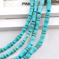 練りターコイズ Howlite Bamboo Loose Spacer Seed Stones Beads