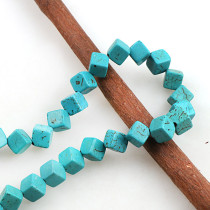 練りターコイズ  Howlite Square Loose Spacer Seed Stones