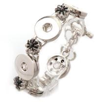 New 1 Piece  Interchangable Fit 18mm 5 Snap Buttons OT Clasp Vintage Snaps Button Bracelets&Bangles DIY Jewelry Charm Bracelets