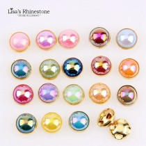 72pcs  8mm  ABColor pearls Gold Edge Pearl