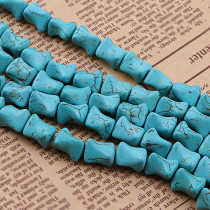 練りターコイズ Howlite Irregular Loose Spacer Seed Stones Beads