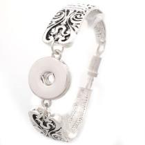 New 1 Piece Interchangable 18mm Snap Buttons Carve Flower Leaf Vintage Snaps Button Bracelets&Bangles DIY Jewelry Charm Bracelets