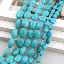 練りターコイズOval Teardrop Howlite Loose Stones Beads