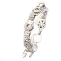 New 1 Piece Interchangable 12mm 5 Snap Buttons Rhinestone Vintage Snaps Button Bracelets&Bangles DIY Jewelry Charm Bracelets