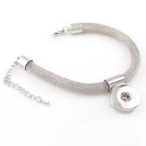 New 1 Piece Interchangable 18mm Snap Buttons Stainless Steel Vintage Snaps Button Bracelets&Bangles DIY Jewelry Charm Bracelets