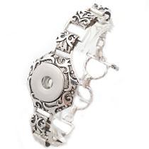 New 1 Piece Interchangable Fit 18mm Snap Buttons Carve Flowers OT Clasp Vintage Snaps Button Bracelets&Bangles DIY Jewelry Charm Bracelets