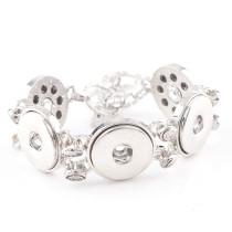 New 1 Piece Interchangable 18mm 5 Snap Buttons Stainless Steel Vintage Snaps Button Bracelets&Bangles DIY Jewelry Charm Bracelets