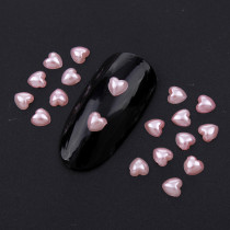 1000Pcs/Lot 4mm Pearl Rice White/Pink/Mix Color Flatback Heart Pearls Beads