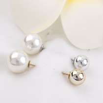 5Pieces 43x12mm   Double Simulated Pearl Gold Alloy Brooch Pin