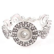 New 1 Piece Interchangable Fit 18mm Snap Buttons OT Clasp Carve Flower Rhinestone Vintage Button Bracelets&Bangles DIY Jewelry Charm