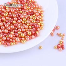 20gram  Mix Color  Mix Size  No Holes Round Imitation Plastic Pearl Beads