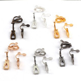 20pcs/1000pcs    13x10mm  Metal Earrings Clip Earnuts Ear Pad