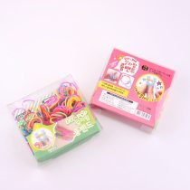 wholesale High Quality Mix Color Rubber Bands Set Fun Loom Bands Kit For DIY Kids Bracelet Charms,1 Small Box+Hook+S-clip+Loom