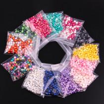 20g/Bag Two-color Series Mix Size  Matte Imitation Perals