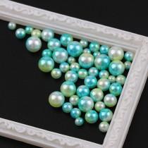 Mix Size  20g/bag Gradient Mermaids Colorful Imitation Pearls