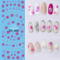 DS-353-363  Flower Bowknot Watermark Large Sheet Accessories Decal Sticker