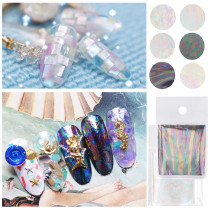 1Pc 5*20cm Starry Sky Shell Broken Glass Fantasia  Nail Stickers