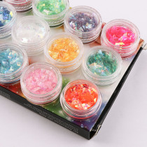 12Colors/Box Random Colorful Shell Candy Irregular Paper