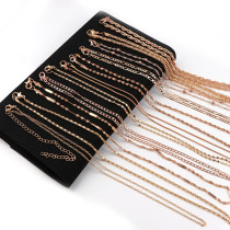 2Pcs Copper/Iron Metal Curb Necklace Bulk Chains