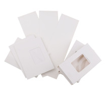 20Pieces 7.5x13x2.7cm Rectangle White Paper Gift Box with PVC Window For DIY Gift Packing/Protecting Glass Crystal Fancy Stones