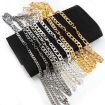 1Pcs Iron Metal Flat Curb Necklace Bulk Chains