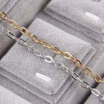 5 Meters Aluminum Metal Silver&Rose Gold O Shape Necklace Chains