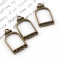 2017 5pieces Vintage Bird Cage Singe-Side Antique Bronze Metal Hollow Frame Connector Charms Pendant DIY Jewelry Findings Accessories