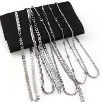 1Pcs Copper/Iron Metal Curb Necklace Bulk Chains