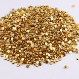 10000Pcs 1.5mm-5mm  Gold  Color ABS Half Round Imitation Pearls Beads