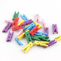 50Pcs 7x25x3mm Small Mini Size Mix Color Natural Wooden Pegs Birthday Baby Shower