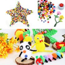Party Christmas Supplies Assorted Mixed Color Mini Fluffy Pompoms Pom Poms Ball