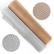 2017 1 Pc 3mm Glass Rhinestone+Gold/Silver Aluminum Rhinestone Mesh Trim ABS Plastic HotFix For DIY Wedding Dress Jewelry